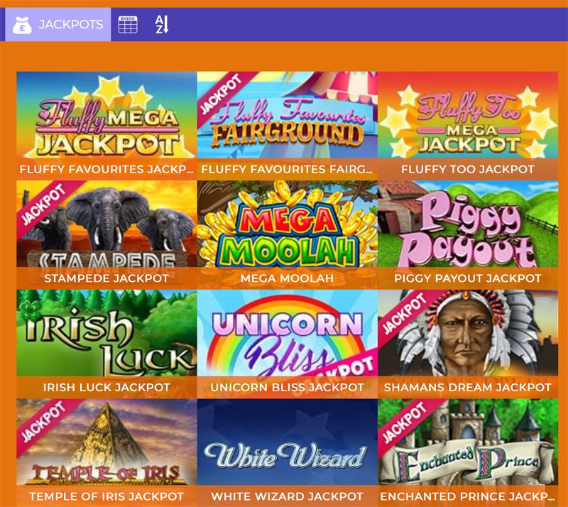 Examples of Jackpot Games