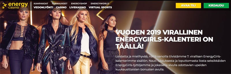 Energy Girls-kalenteri