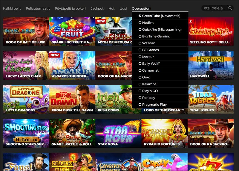 Novomatic pelejä ja muita pelivalmistajia