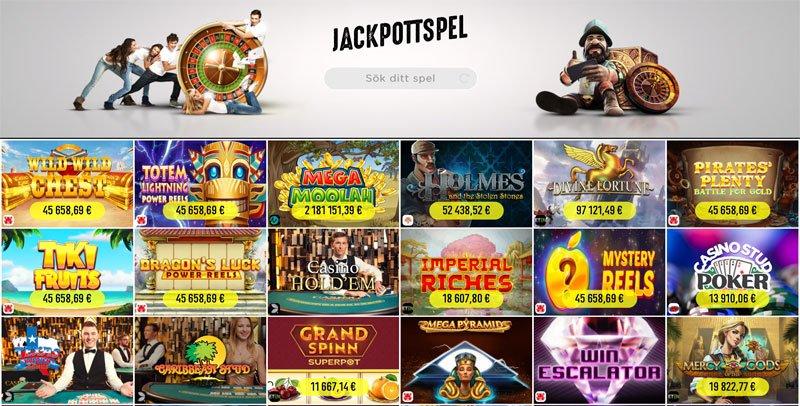 Spinit jackpottspel