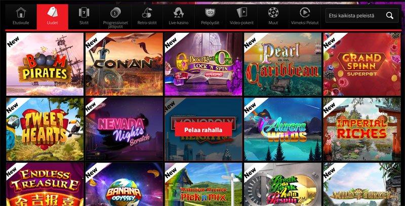 Uudet kasinopelit