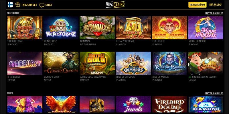 Suosittuja ja uusia kasinopelejä