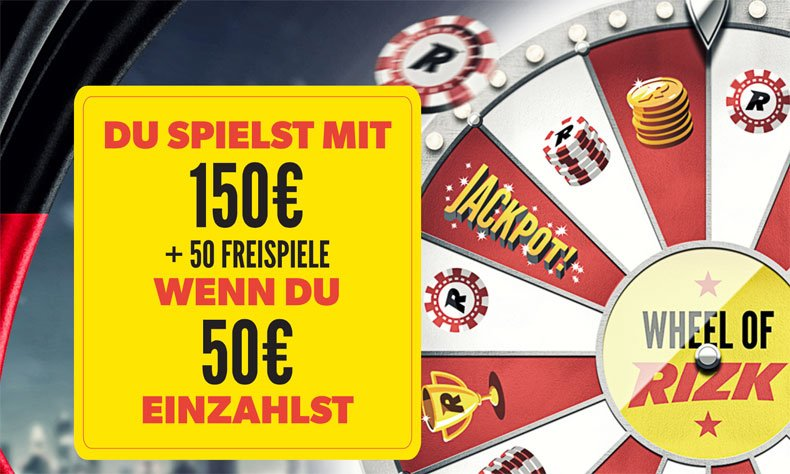 Casino Bonus und Wheel of Rizk