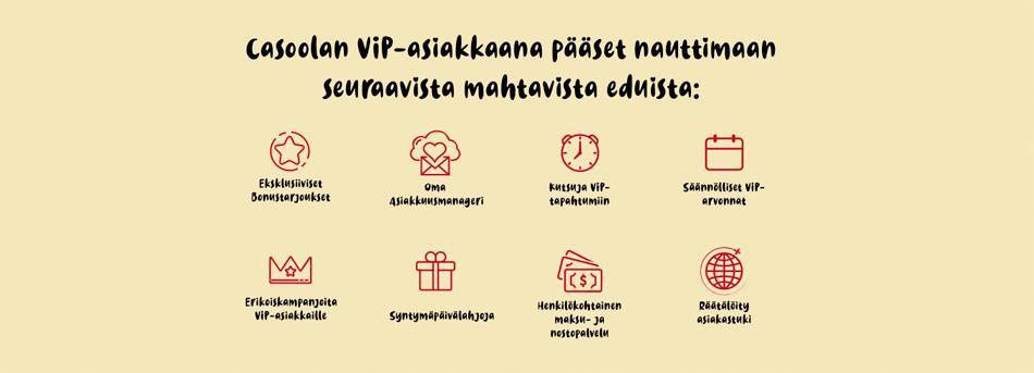 VIP-ohjelma ja edut
