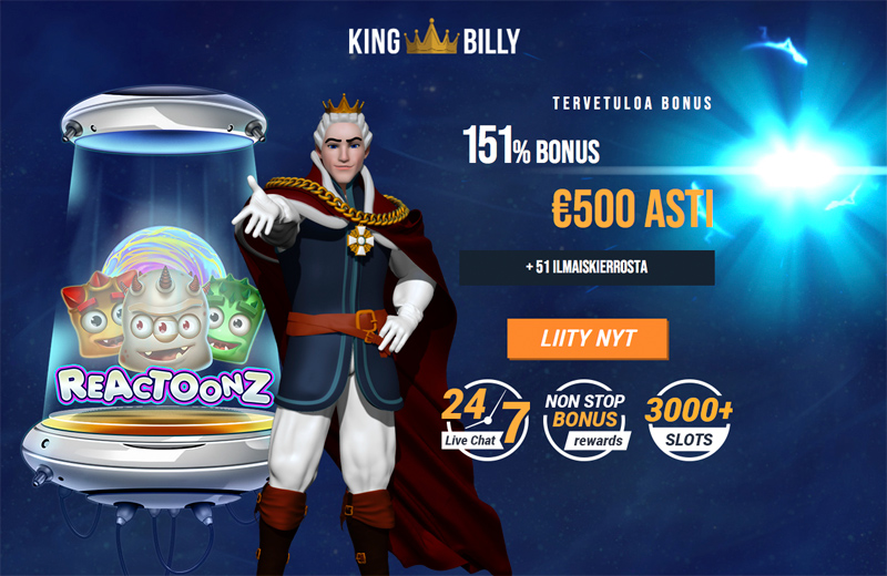 King Billy tervetulobonus